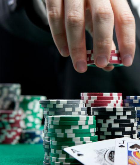 Répartition des jetons de poker
